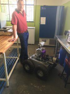 Robot do pracy w winnicach, fot. Mateusz Ciasnocha