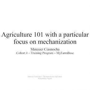 InvestAfrica.pl na temat mechanizacji rolnictwa wspierając MyFarmBase Nigeria